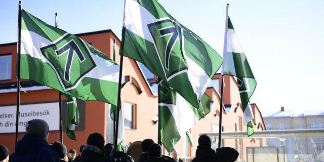 Arkivbild. Nazistiska gruppen Nordiska motståndsrörelsen, i Jönköping TT / TT NYHETSBYRÅN
