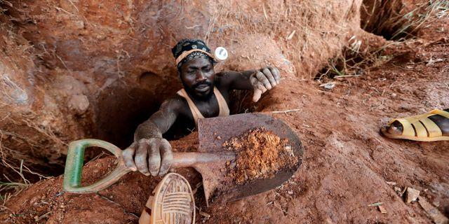 En guldgruva i Ghana. Illustrationsbild.  Zohra Bensemra / TT NYHETSBYRÅN