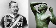 Wilhelm II / skulpturen 'L'Age d'airain' från Alte Nationalgalerie i Berlin TT
