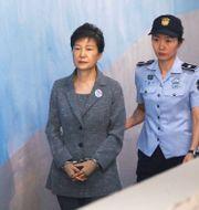 Park Geun-Hye vid domstolen i Seoul i augusti.  HANDOUT / TT NYHETSBYRÅN