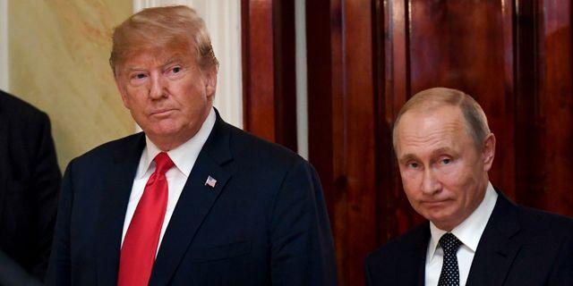Donald Trump och Vladimir Putin. Antti Aimo-Koivisto / TT NYHETSBYRÅN/ NTB Scanpix