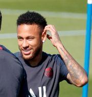 Neymar tränade som vanligt med PSG idag. CHARLES PLATIAU / TT NYHETSBYRÅN
