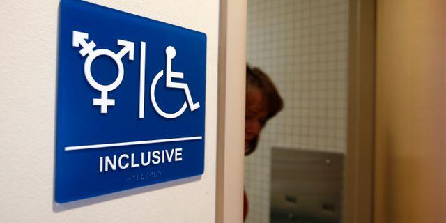 Könsneutral toalett på Universitetet i Kalifornien. Arkivbild. LUCY NICHOLSON / TT NYHETSBYRÅN