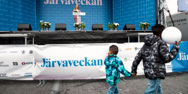 Bild från Järvaveckan 2019. Christine Olsson/TT / TT NYHETSBYRÅN