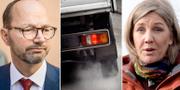 Infrastrukturminister Tomas Eneroth (S) och miljöminister Karolina Skog (MP) TT