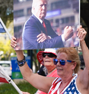 Donald Trump, arkivbild/Anhängare till Trump i Florida TT