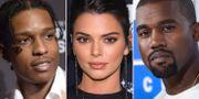 Asap Rocky/Kendall Jenner/Kanye West. TT.