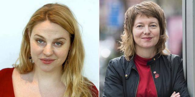 Isobel Hadley-Kamptz och Malin Björk (V) TT