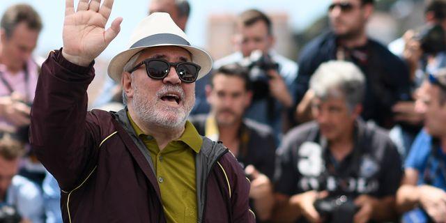 Almodóvar i Cannes på onsdagen. ANNE-CHRISTINE POUJOULAT / AFP