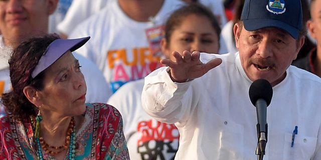 Murillo och Ortega, 19 juli MARVIN RECINOS / AFP