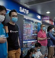 Kö till PS5:s förbokning i Japan.  Kin Cheung / TT NYHETSBYRÅN