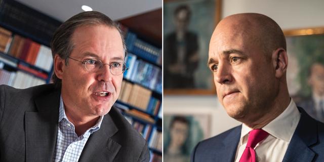 Anders Borg och Fredrik Reinfeldt. TT