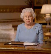 Drottning Elizabeth II under sitt tal. Buckingham Palace / TT NYHETSBYRÅN