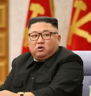 Nordkoreas diktator Kim Jong-Un.  TT NYHETSBYRÅN