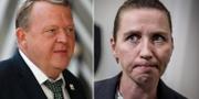 Lars Løkke Rasmussen och Mette Frederiksen TT