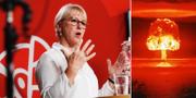 Utrikesminister Margot Wallström (S) t. v. TT