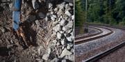 Bilderna visar bland annat hur slipers ha ruttnat sönder. SVT/TT