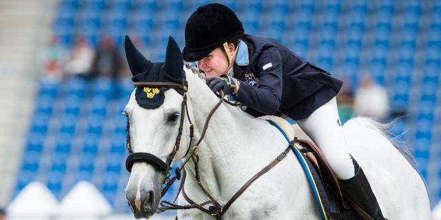 Sveriges Helena Persson på hästen Bonzai H. Pontus Lundahl/TT / TT NYHETSBYRÅN