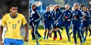 Alexander Isak och damlandslaget i fotboll.  Bildbyrån