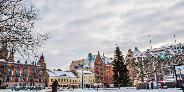 Stortorget i centrala Malmö. Emil Langvad/TT / TT NYHETSBYRÅN