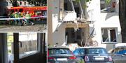 Byggnaden i Linköping utsattes för sprängattentat TT