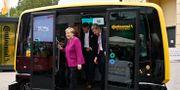 Tysklands Angela Merkel besöker Continental.  TOBIAS SCHWARZ / AFP