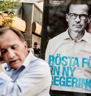 Statsminister Stefan Löfven (S) och Moderaternas partiledare Ulf Kristersson. Lars Pehrson/SvD/TT / TT NYHETSBYRÅN