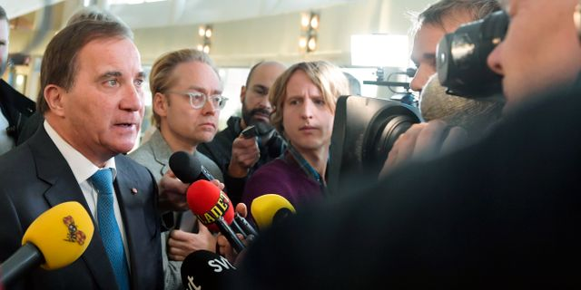 Stefan Löfven i riksdagen. Jessica Gow/TT / TT NYHETSBYRÅN