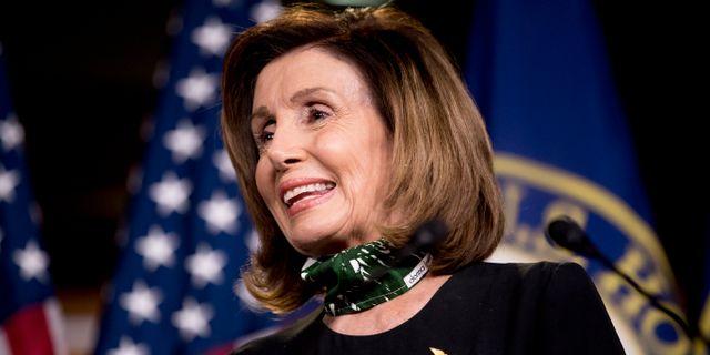Representanthusets talman Nancy Pelosi. Andrew Harnik / TT NYHETSBYRÅN