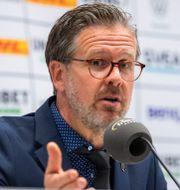 Rikard Norling under presskonferensen efter förlusten mot Djurgården. JONATHAN NÄCKSTRAND / BILDBYRÅN