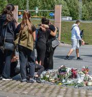 Platsen där flickan sköts till döds. Stina Stjernkvist/TT / TT NYHETSBYRÅN