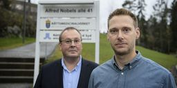 Stefan Fohlheim, biträdande enhetschef på rättspsykiatriska undersökningsenheten i Stockholm och överläkare Johan Larsson. Jessica Gow/TT