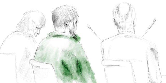 Rakhmat Akilov under rättegången. Johan Hallnäs / TT / TT NYHETSBYRÅN