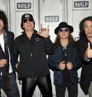 Den version av Kiss som åkter på avskedsturné består av Tommy Thayer, Gene Simmons, Eric Singer and Paul Stanley. Evan Agostini / TT NYHETSBYRÅN
