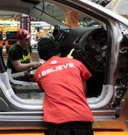 Arkivbild från Fiat Chryslers fabrik i Sterling Heights i Michigan. Paul Sancya / TT / NTB Scanpix