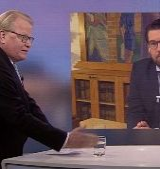 Peter Hultqvist och Jimmie Åkesson. SVT.