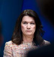 Utrikesminister Ann Linde.  Pontus Lundahl/TT / TT NYHETSBYRÅN