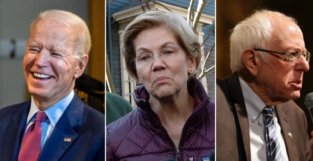Joe Biden/Elizabeth Warren/Bernie Sanders. TT