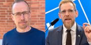 Dan Samuelsson, vd Wikan Personal, och Jakob Forssmed (KD) Wikan Personal + TT