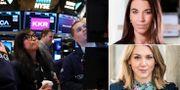 Aktiehandlare på Wall Street, Johanna Kull och Frida Bratt. TT/ Magnus Sandberg / AFTONBLADET / /