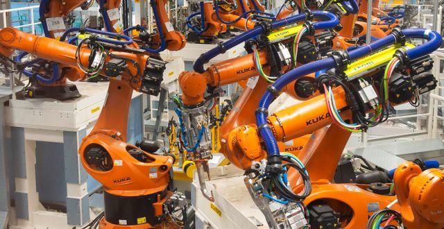Illustration. Volkswagens robotar. Jens Meyer / TT NYHETSBYRÅN/ NTB Scanpix
