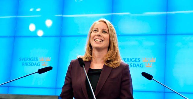 Centerns partiledare Annie Lööf. Jessica Gow/TT / TT NYHETSBYRÅN