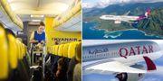 Ryanair / Hawaiian Airlines / Qatar Airways