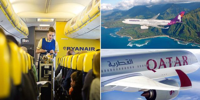 Ryanair / Hawaiian Airlines / Qatar Airways
