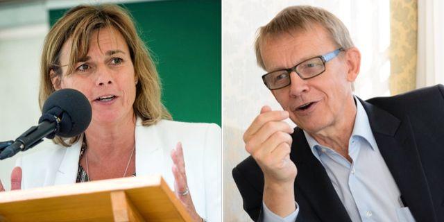 Isabella Lövin och Hans Rosling. Arkivbilder. TT