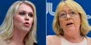Socialminister Lena Hallengren (S) och finansregionrådet Irene Svenonius (M).  TT