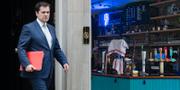Robert Jenrick lämnar ett möte på 10 Downing Street / Stängd pub i London TT