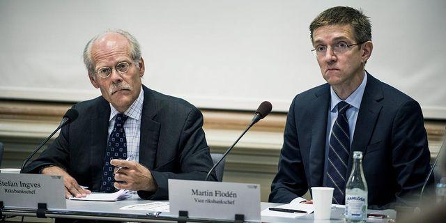 Riksbankschef Stefan Ingves och vice riksbankschef Martin Flodén. Foto: Lars Pehrson/SvD/TT