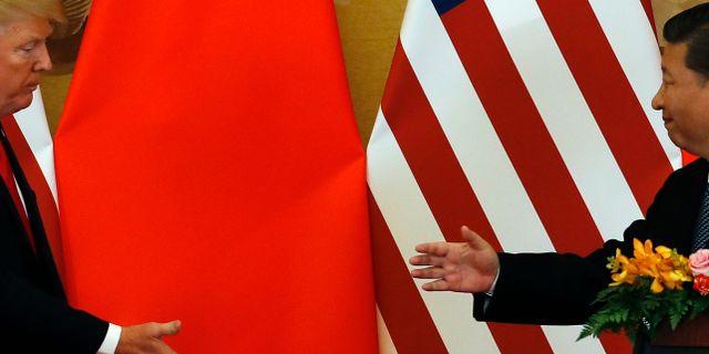 Trump och Xi.  Andy Wong / TT NYHETSBYRÅN