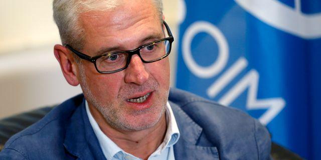 IOM:s chef i Jemen Laurent de Boeck. FRANCOIS LENOIR / TT NYHETSBYRÅN
